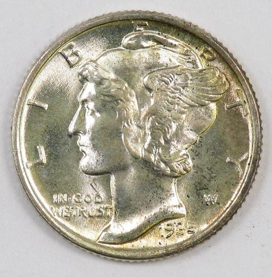 1935 P Mercury Silver Dime