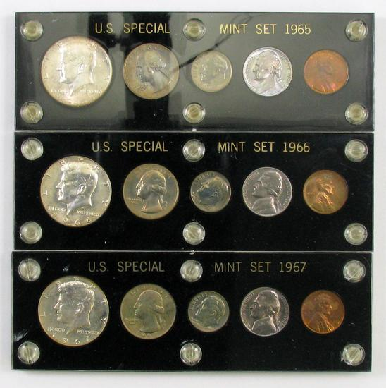 Lot of (3) U.S. Special Mint Sets in Capital Holder.