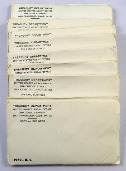 Lot of (10) 1970 U.S. Mint Sets in envelopes.