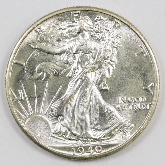 1940 P Walking Liberty Silver Half Dollar.