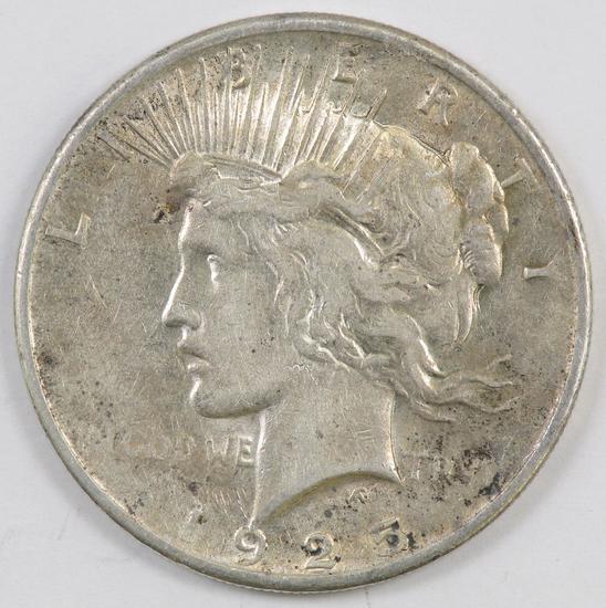 1925 P Peace Silver Dollar.