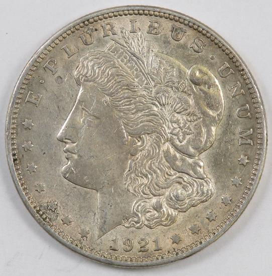 1921 P Morgan Silver Dollar.