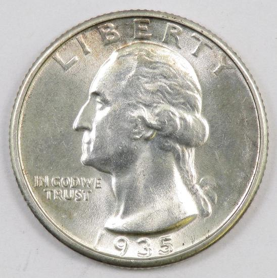 1935 P Washington Silver Quarter.