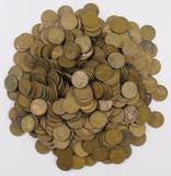 Lot of (500) Lincoln Wheat Cents.