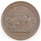 1859 Second Empire, 3rd Anniversary Jubilee of the Reformed Church France Medal.
