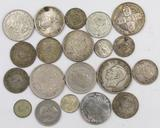 Lot of (20) Misc Foreign Coins.