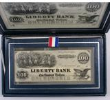 1976 International Silver Company & American Banknote Company Sterling Silver Banknote Series.