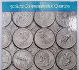 50 State Commemorative Quarters Album 1999-2008 containing the first (20) Colorized Quarters.