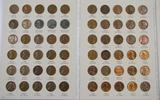 Lot of (179) Lincoln Cents in (2) Albums 1941-1998.