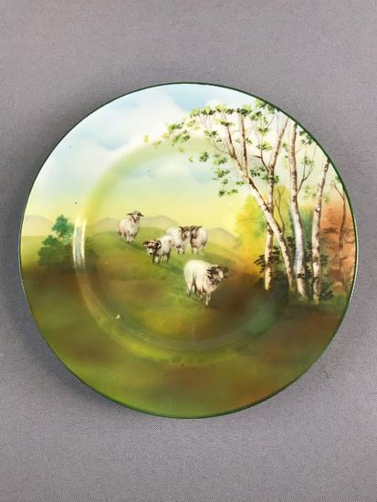 Antique Royal Bayreuth sheep plate