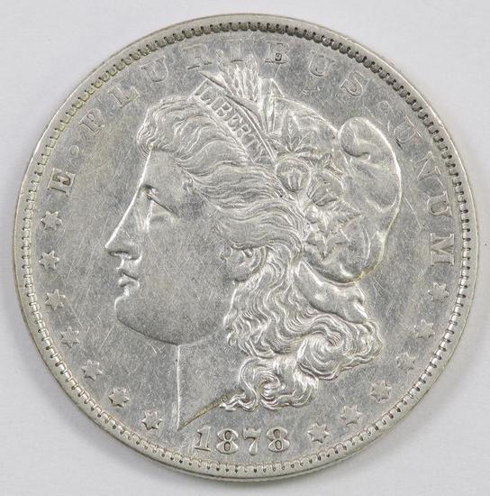 1878 P Morgan Silver Dollar.