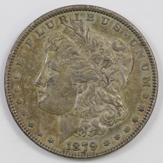 1879 P Morgan Silver Dollar.