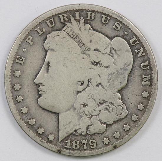 1879 CC Morgan Silver Dollar.