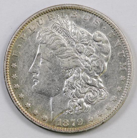 1879 O Morgan Silver Dollar.
