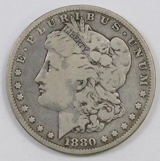 1880 O Morgan Silver Dollar.