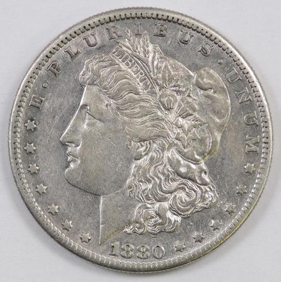 1880 S Morgan Silver Dollar.