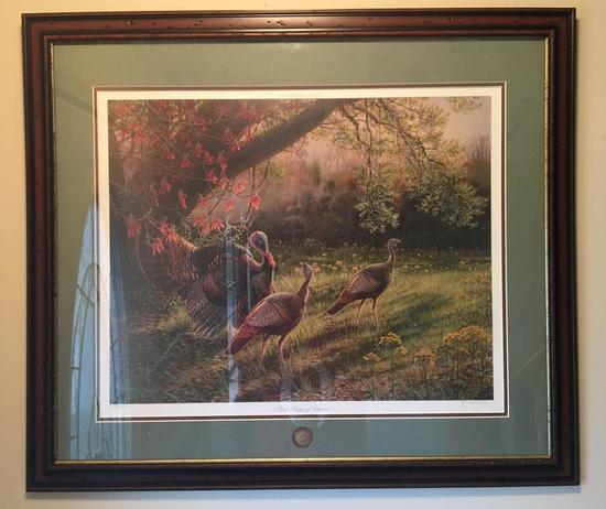 Signed and Numbered National Wild Turkey Federation First Rays of Dawn Print