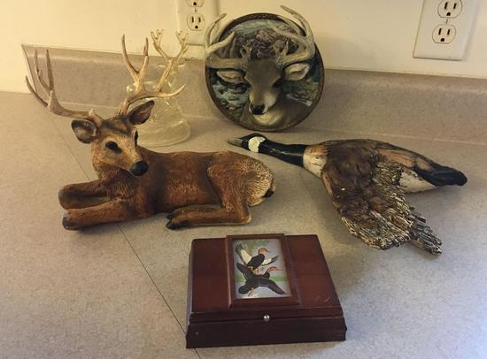 Group of 5 Bucks and Geese Items