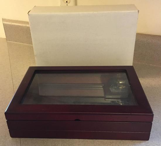 Wood and Mirrored Music Box
