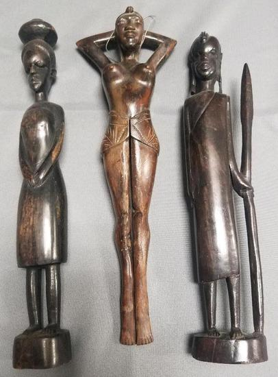 Hand Carved African Figures.