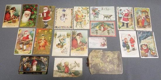 Lot of (19) Antique Christmas Postcards.