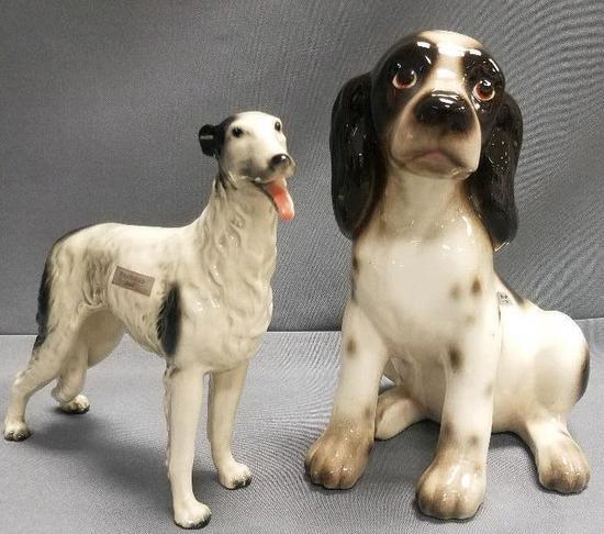 Lot of (2) Vintage Dog Figurines.