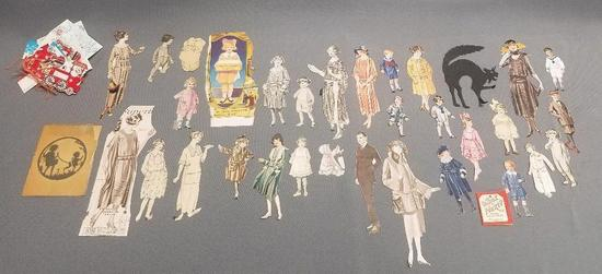 Over 40 Vintage Paper Dolls and Gift Tags.