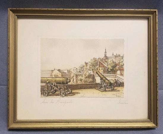 Vintage Barday signed colorized Lithograph.