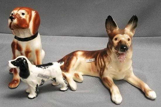 Lot of (3) Vintage Dog Figurines.