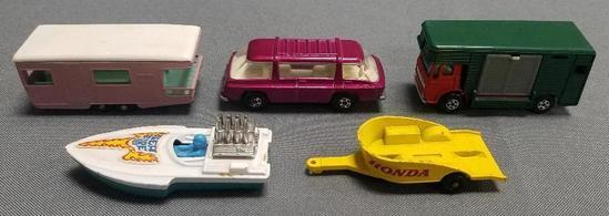 Lot of (5) Vintage Matchbox Cars.