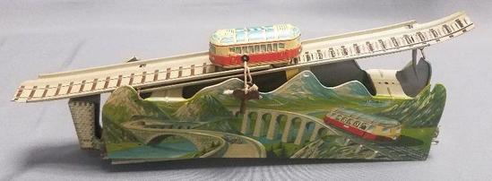 Vintage Ges. Gesch Tin Wind-up Train Toy.