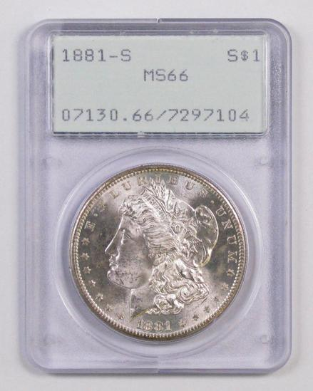 LIVE GALLERY AUCTION - Coins & Currency