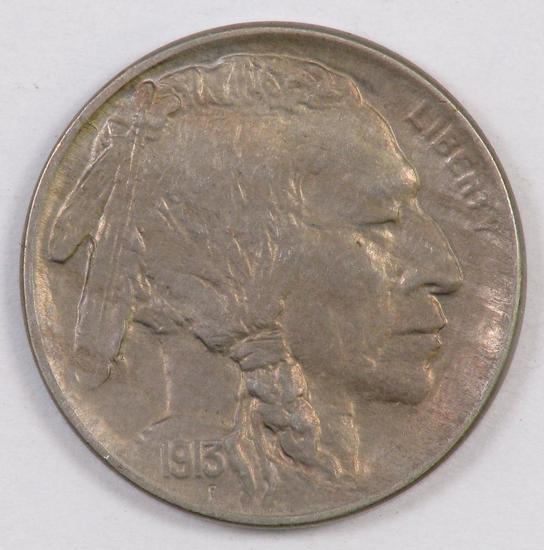 1913 D Ty.1 Buffalo Nickel.