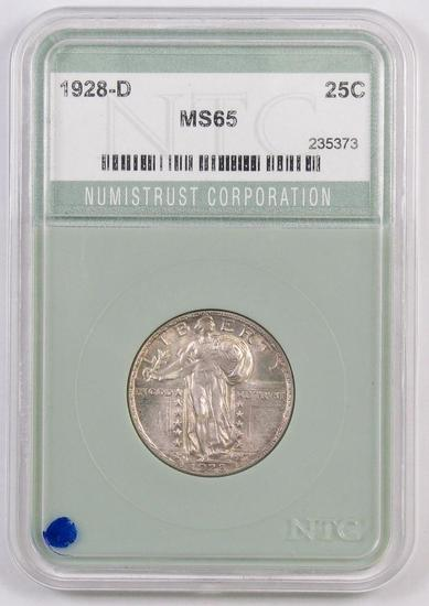 1928 D Standing Liberty Quarter (NTC) MS65.