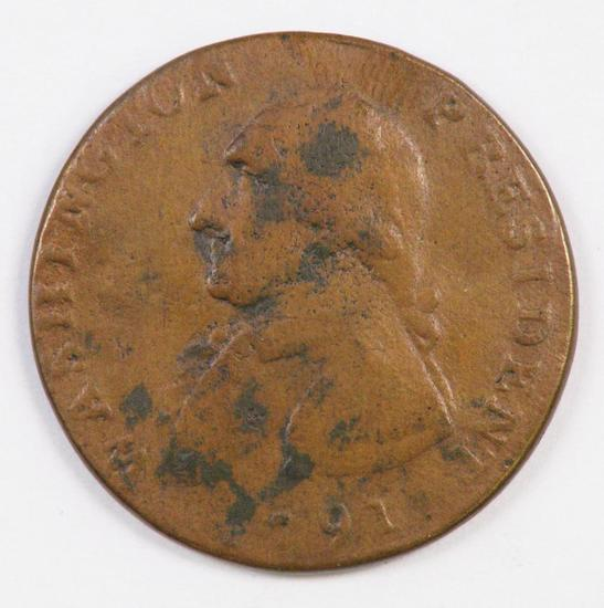 1791 Cent Washington, Large Eagle