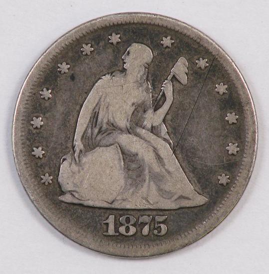 1875 P Twenty Cent Piece.