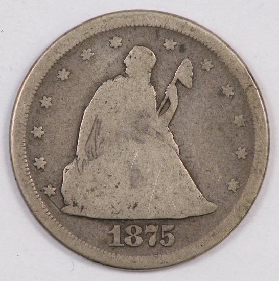 1875 S Twenty Cent Piece.