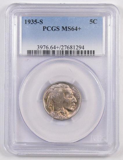 1935 S Buffalo Nickel (PCGS) MS64+.