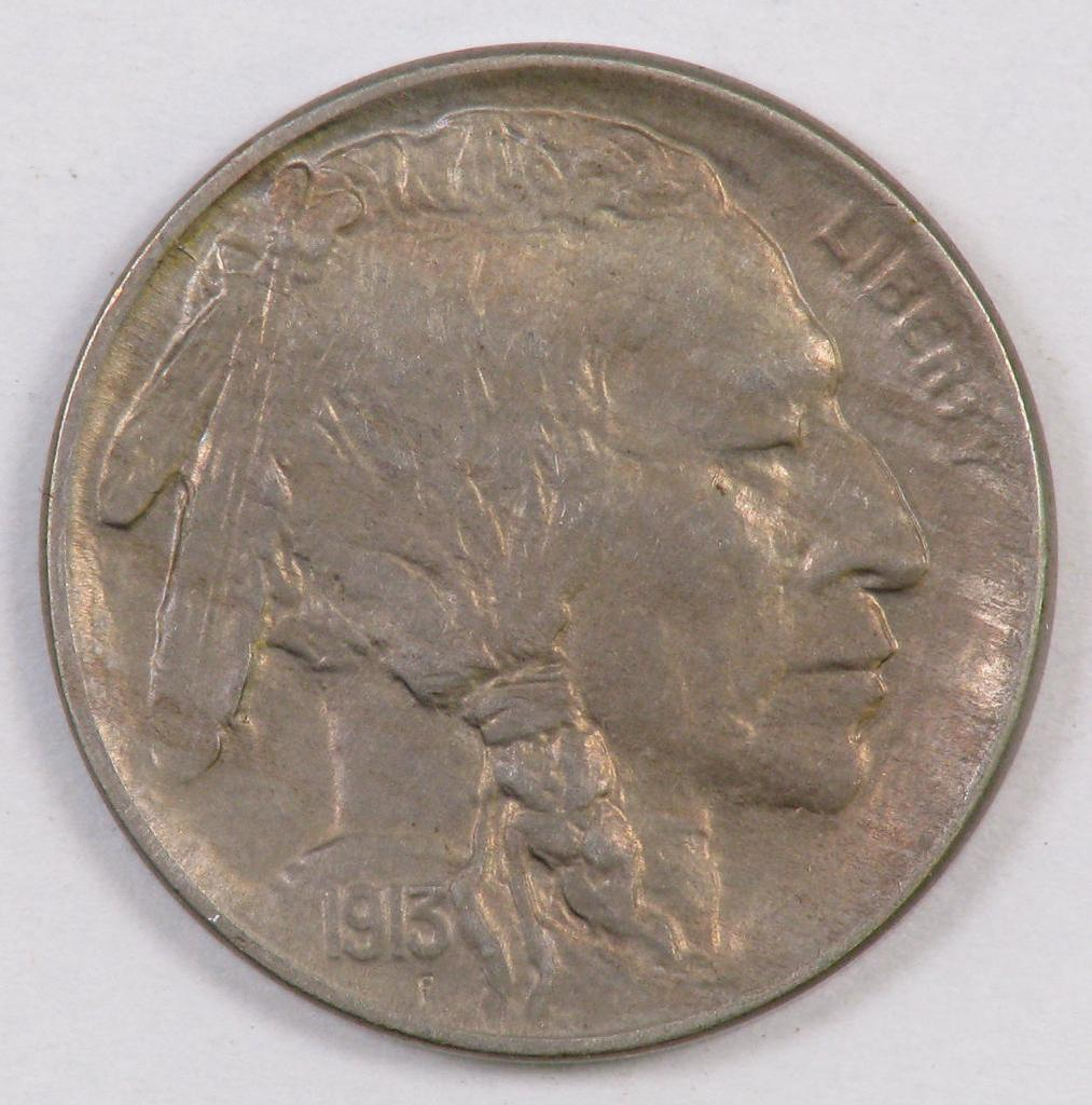1913 D Ty.1 Buffalo Nickel.