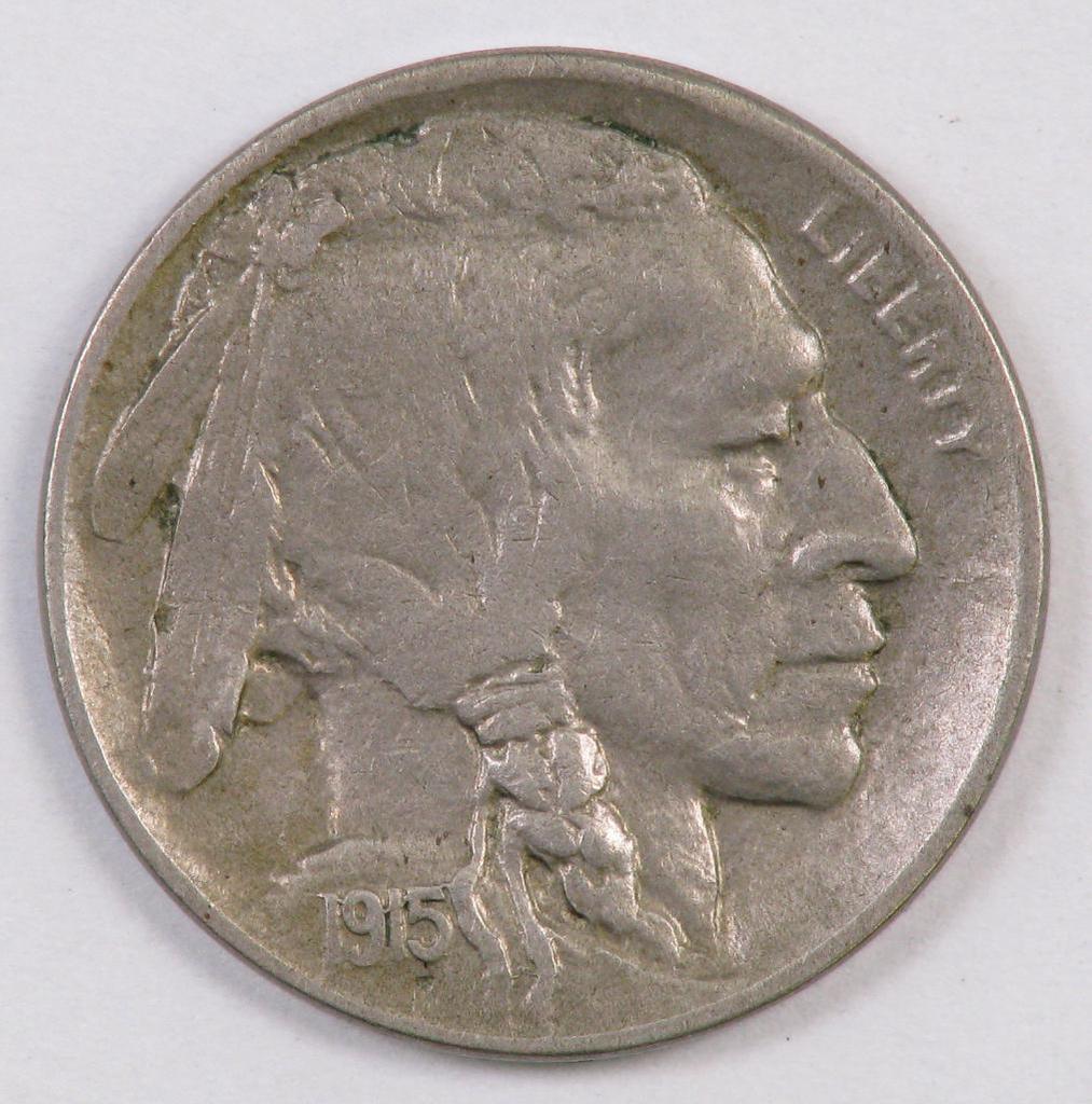 1915 D Buffalo Nickel.