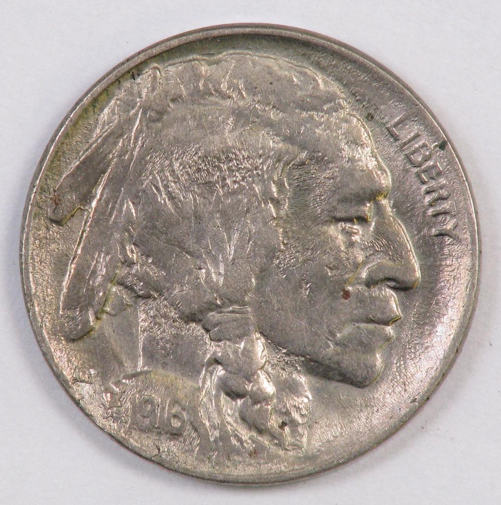 1916 D Buffalo Nickel.