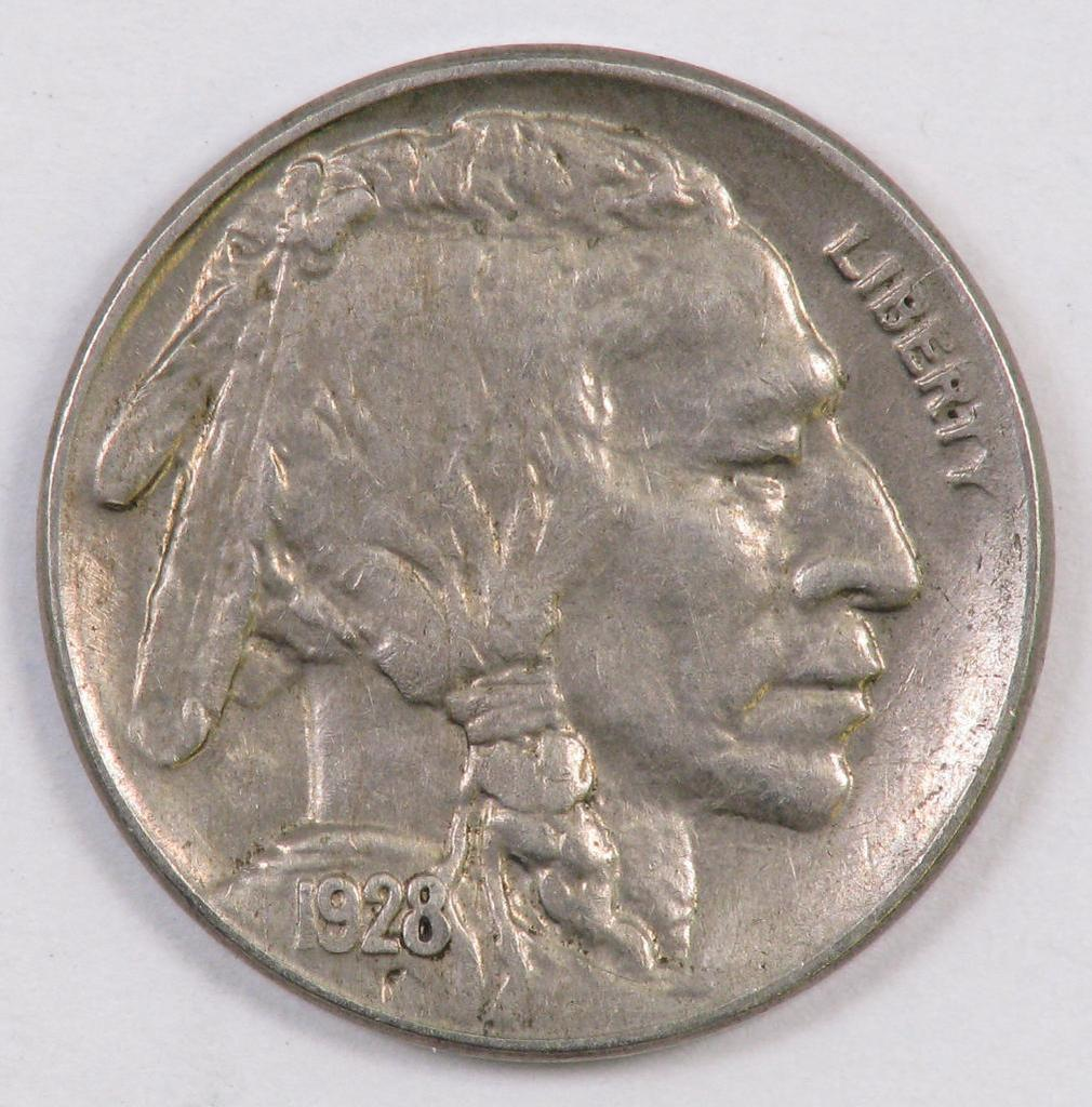 1928 D Buffalo Nickel.