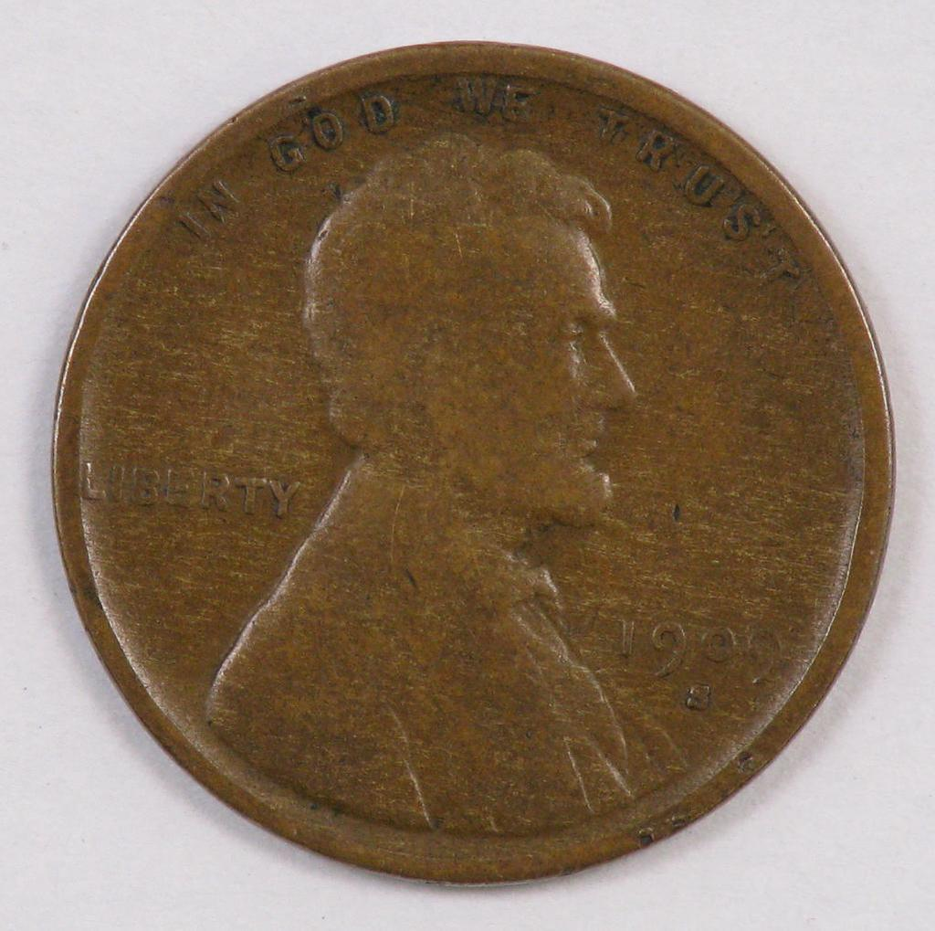 1909 S V.D.B. Lincoln Wheat Cent.
