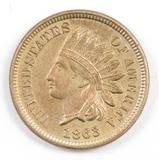 1863 CN Indian Head Cent.