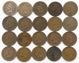 Lot of (20) Indian Head Cents some Full Liberty.