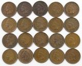 Lot of (20) Indian Head Cents with Full Liberty most with 4 Diamonds.