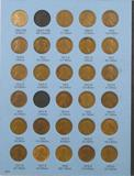Lot of (173) Lincoln Wheat Cents in (2) Whitman Folders 1909-1974.