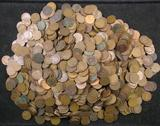 Over 10 Pounds of Indian Head & Lincoln Wheat Cents.