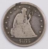 1875 CC Twenty Cent Piece.