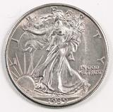 1939 S Walking Liberty Half Dollar.